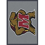"Milliken College Team Spirit (NCAA) Maryland 74387 Spirit Rectangle (4000019237) 5'4"" x 7'8"" Area Rug"