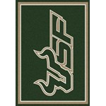"Milliken College Team Spirit (NCAA-SPT) South Florida 01352 Spirit Rectangle (4000054465) 7'8"" x 10'9"" Area Rug"