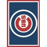 "Milliken MLB Team Spirit (MLB-S) Chicago Cubs 01003 Spirit Rectangle (4000054876) 2'8"" x 3'10"" Area Rug"