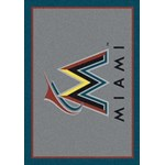 "Milliken MLB Team Spirit (MLB-S) Miami Marlins 01040 Spirit Rectangle (4000019516) 5'4"" x 7'8"" Area Rug"