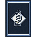 "Milliken MLB Team Spirit (MLB-S) Tampa Bay Rays 01028 Spirit Rectangle (4000019538) 5'4"" x 7'8"" Area Rug"