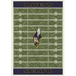 "Milliken NFL Team Home Field (NFL-F) Baltimore Ravens 01009 Home Field Rectangle (4000019819) 5'4"" x 7'8"" Area Rug"
