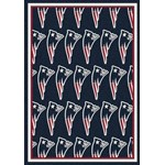 "Milliken NFL Team Repeat (NFL-R) New England Patriots 09056 Repeat Rectangle (4000053235) 3'10"" x 5'4"" Area Rug"