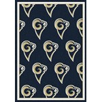 "Milliken NFL Team Repeat (NFL-R) St. Louis Rams 09086 Repeat Rectangle (4000096049) 3'10"" x 5'4"" Area Rug"