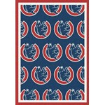 "Milliken MLB Team Repeat (MLB-R) Chicago Cubs 01103 Repeat Rectangle (4000019603) 7'8"" x 10'9"" Area Rug"