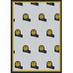 "Milliken NBA Team Repeat (NBA-R) Indiana Pacers 01111 Repeat Rectangle (4000052800) 2'1"" x 7'8"" Area Rug"