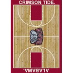 "Milliken College Home Court (NCAA) Alabama 01010 Court Rectangle (4000018278) 3'10"" x 5'4"" Area Rug"