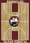 Milliken College Home Court (NCAA) Florida State 01514 Court Rectangle (4000018360) 3'10