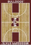 Milliken College Home Court (NCAA) Mississippi State 01188 Court Rectangle (4000018483) 7'8