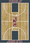 Milliken College Home Court (NCAA) Mississippi 01186 Court Rectangle (4000018482) 7'8