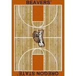 "Milliken College Home Court (NCAA) Oregon State 01294 Court Rectangle (4000018494) 7'8"" x 10'9"" Area Rug"