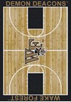 Milliken College Home Court (NCAA) Wake Forest 01462 Court Rectangle (4000018436) 5'4