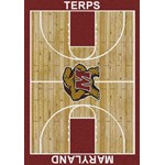 "Milliken College Home Court (NCAA-CRT) Maryland 01156 Court Rectangle (4000096101) 10'9"" x 13'2"" Area Rug"