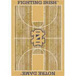 "Milliken College Home Court (NCAA-CRT) Notre Dame 01260 Court Rectangle (4000016036) 10'9"" x 13'2"" Area Rug"