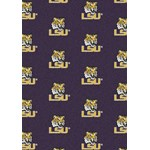 "Milliken College Repeating (NCAA) LSU 01152 Repeat Rectangle (4000018991) 10'9"" x 13'2"" Area Rug"