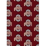 "Milliken College Repeating (NCAA) Ohio State 01000 Repeat Rectangle (4000018892) 7'8"" x 10'9"" Area Rug"