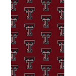 "Milliken College Repeating (NCAA) Texas Tech 01440 Repeat Rectangle (4000018950) 7'8"" x 10'9"" Area Rug"