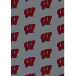 "Milliken College Repeating (NCAA) Wisconsin 01490 Repeat Rectangle (4000018814) 3'10"" x 5'4"" Area Rug"