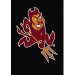 "Milliken College Team Spirit (NCAA) Arizona State 79540 Spirit Rectangle (4000019500) 2'8"" x 3'10"" Area Rug"