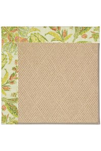 Capel Rugs Creative Concepts Cane Wicker - Cayo Vista Mojito (215) Octagon 4' x 4' Area Rug