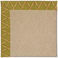 Capel Rugs Creative Concepts Cane Wicker - Bamboo Tea Leaf (236) Octagon 4