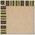Capel Rugs Creative Concepts Cane Wicker - Vera Cruz Coal (350) Octagon 4
