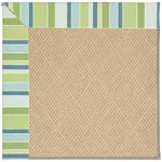Capel Rugs Creative Concepts Cane Wicker - Capri Stripe Breeze (430) Octagon 4' x 4' Area Rug