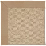 Capel Rugs Creative Concepts Cane Wicker - Canvas Camel (727) Octagon 4' x 4' Area Rug
