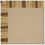 Capel Rugs Creative Concepts Cane Wicker - Java Journey Chestnut (750) Octagon 4' x 4' Area Rug