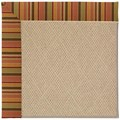 Capel Rugs Creative Concepts Cane Wicker - Tuscan Stripe Adobe (825) Octagon 4