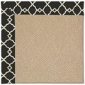 Capel Rugs Creative Concepts Cane Wicker - Arden Black (346) Octagon 6