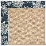 Capel Rugs Creative Concepts Cane Wicker - Bandana Indigo (465) Octagon 6' x 6' Area Rug