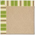 Capel Rugs Creative Concepts Cane Wicker - Tux Stripe Green (214) Octagon 8