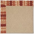 Capel Rugs Creative Concepts Cane Wicker - Java Journey Henna (580) Octagon 8
