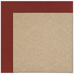 Capel Rugs Creative Concepts Cane Wicker - Dupione Henna (585) Octagon 8' x 8' Area Rug