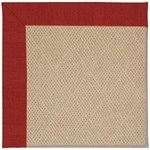 Capel Rugs Creative Concepts Cane Wicker - Canvas Cherry (537) Octagon 10' x 10' Area Rug
