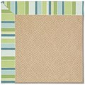 Capel Rugs Creative Concepts Cane Wicker - Capri Stripe Breeze (430) Octagon 12