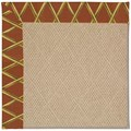 Capel Rugs Creative Concepts Cane Wicker - Bamboo Cinnamon (856) Octagon 12