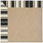 "Capel Rugs Creative Concepts Cane Wicker - Down The Lane Ebony (370) Runner 2' 6"" x 8' Area Rug"