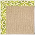 Capel Rugs Creative Concepts Cane Wicker - Shoreham Kiwi (220) Rectangle 3