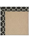 Capel Rugs Creative Concepts Cane Wicker - Arden Black (346) Rectangle 4' x 4' Area Rug