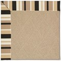 Capel Rugs Creative Concepts Cane Wicker - Granite Stripe (335) Rectangle 5