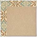 Capel Rugs Creative Concepts Cane Wicker - Shoreham Spray (410) Rectangle 5