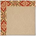 Capel Rugs Creative Concepts Cane Wicker - Shoreham Brick (800) Rectangle 5