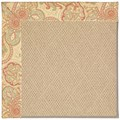 Capel Rugs Creative Concepts Cane Wicker - Paddock Shawl Persimmon (810) Rectangle 5