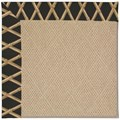 Capel Rugs Creative Concepts Cane Wicker - Bamboo Coal (356) Rectangle 8