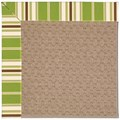 Capel Rugs Creative Concepts Grassy Mountain - Tux Stripe Green (214) Rectangle 6