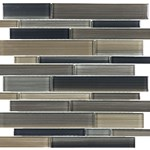 Anatolia Bliss Fusion Glass Mosaic Random Strip : Rock 35-033