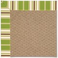 Capel Rugs Creative Concepts Raffia - Tux Stripe Green (214) Octagon 8