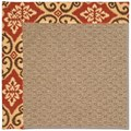 Capel Rugs Creative Concepts Raffia - Shoreham Brick (800) Octagon 10